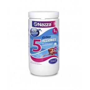 Cloro 5 Acciones con clorador para mantenimiento de minipiscinas