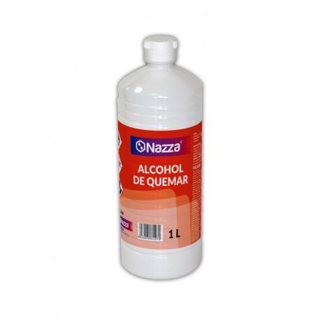 Alcohol de quemar Nazza desengrasante y combustible para barbacoas y chimeneas 1 Litro