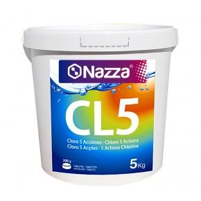 Tabletas de cloro 200 gramos de 5 acciones para piscinas