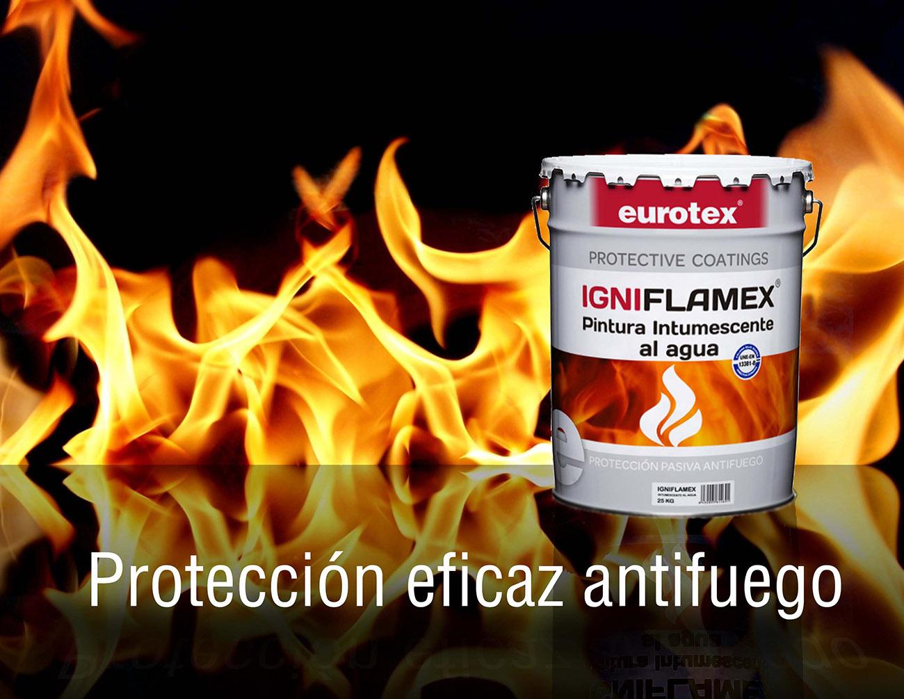 pintura intumescente o antifuego para hierro y acero Nazza - Eurotex