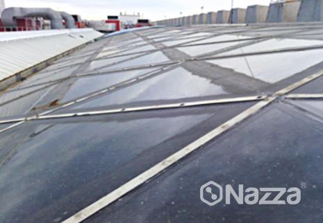 Sistema de membrana de poliuretano transparente aeropuerto Barcelona Nazza