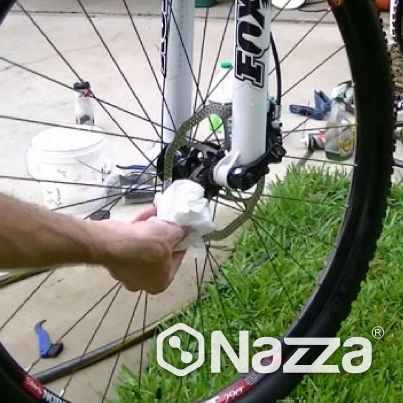 Alcohol isopropilico limpiado discos bici