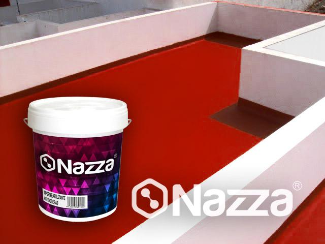 Pintura de caucho antihumedad impermeabilizante para terrazas Nazza