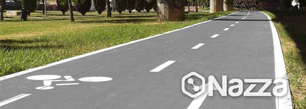 Slurry sobre asfalto para carril bici