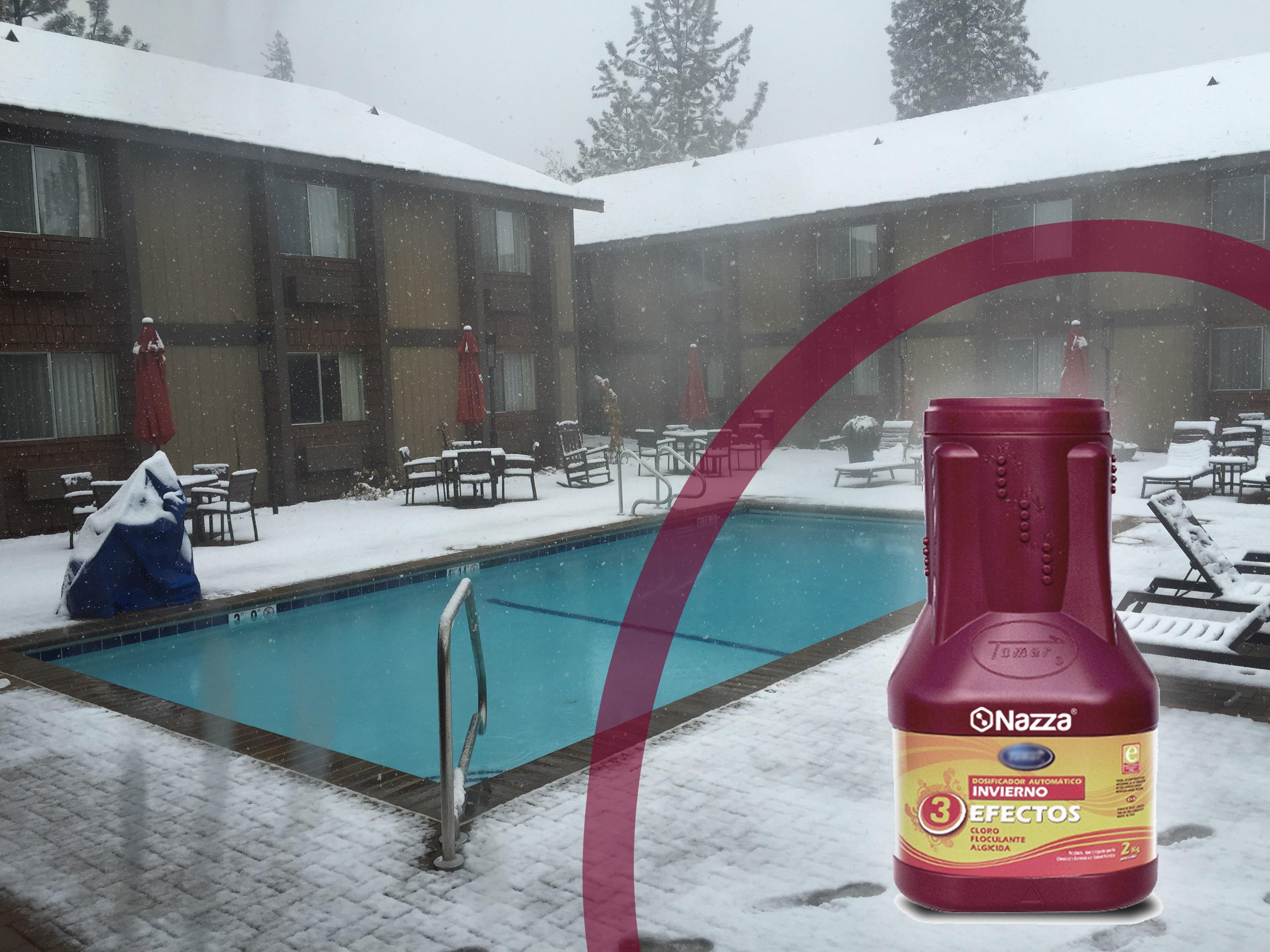 Mantener piscinas en invierno con producto invernador