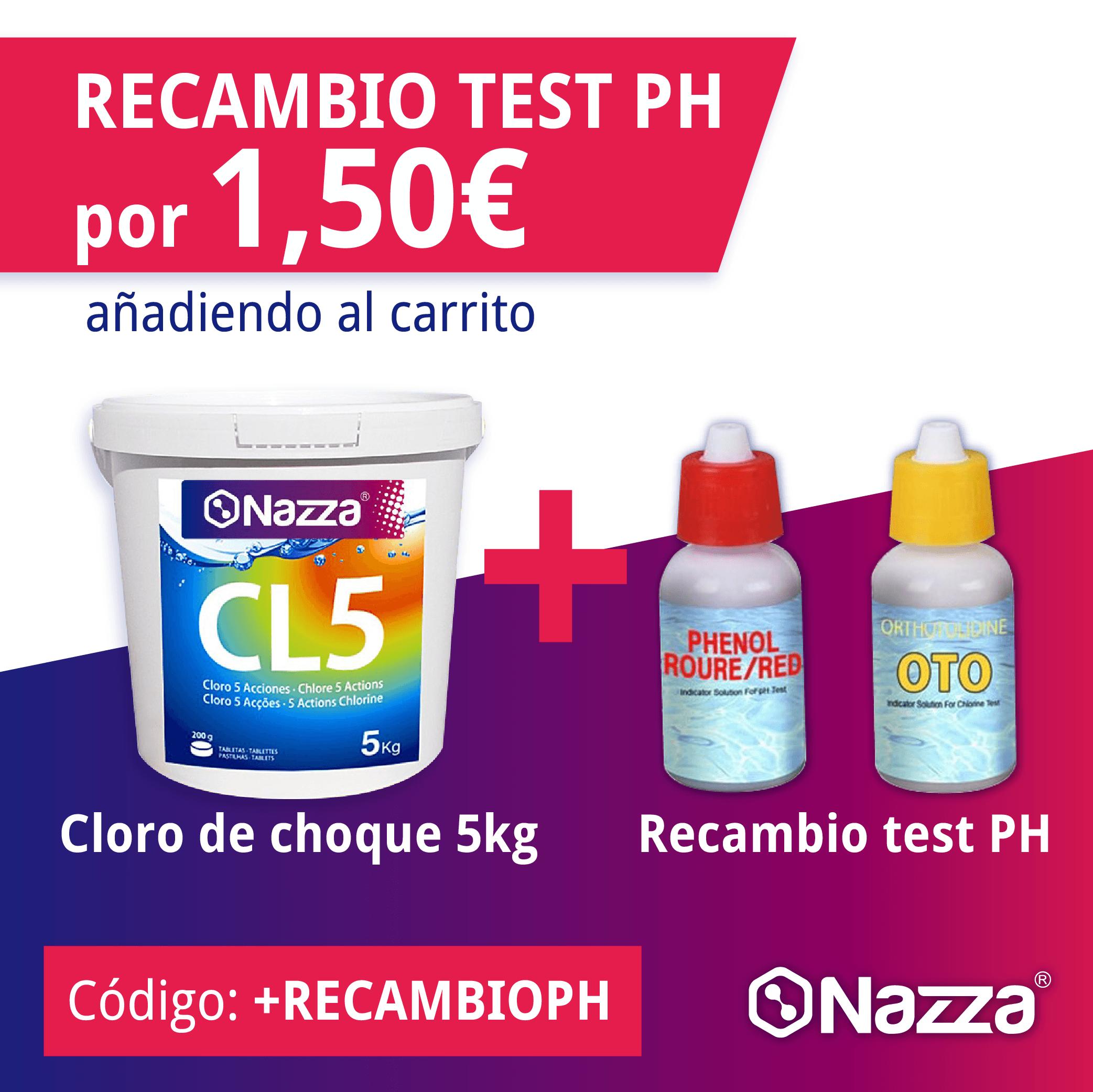 recambio test ph 1,50€
